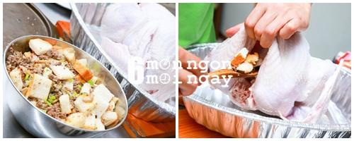 Cách làm gà tây nhồi thập cẩm ngon không kém nhà hàng - hình 7