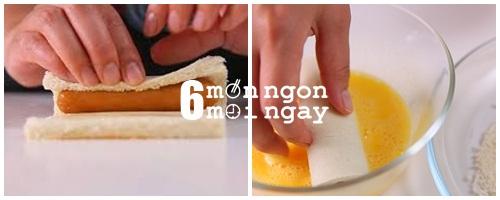 Cách làm sanwich cuộn xúc xích cho ngày mới tràn năng lượng - hình 4