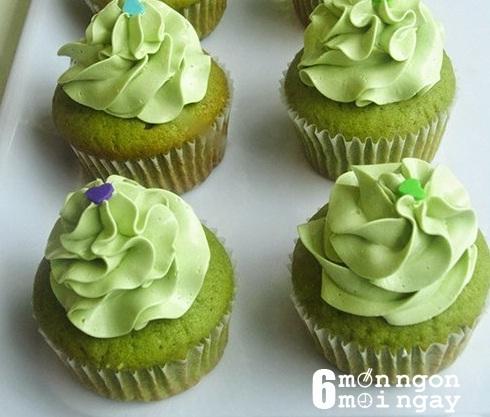 Cách làm bánh cupcake trà xanh tại nhà ngon như ở tiệm - hình 1