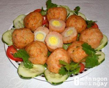 Cách làm thịt viên chiên trứng cút cực ngon cho bé yêu - hình 1