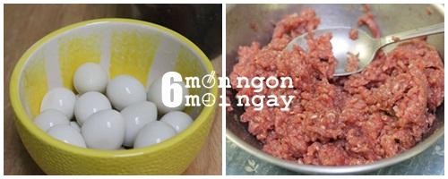 Cách làm thịt viên chiên trứng cút cực ngon cho bé yêu - hình 2