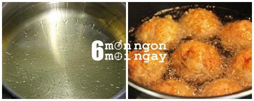 Cách làm thịt viên chiên trứng cút cực ngon cho bé yêu - hình 5