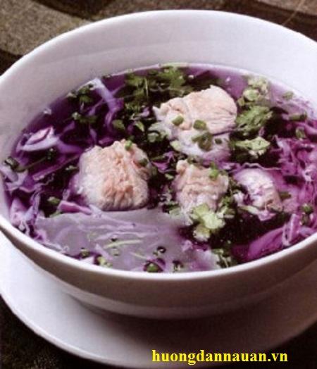 Cách nấu canh bắp cải tím sườn heo ngon bổ dưỡng giúp giảm cân