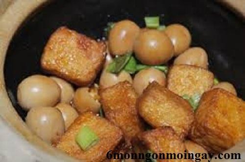 Cách nấu đậu hủ kho trứng ngon đậm đà hương vị khó quên