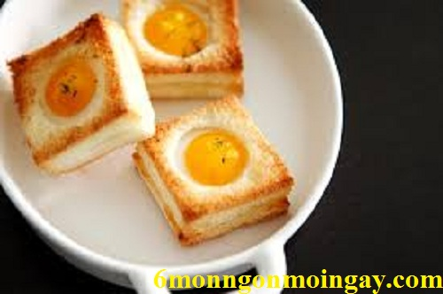 Cách chế biến bánh mỳ trứng nướng làm điểm tâm sáng cho cả nhà