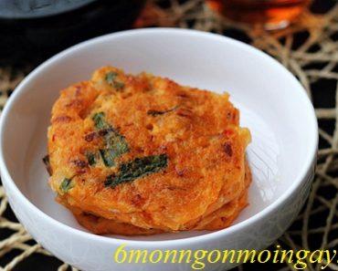 Cách làm bánh rán kim chi Hàn Quốc cay ngon vô cùng khoái khẩu