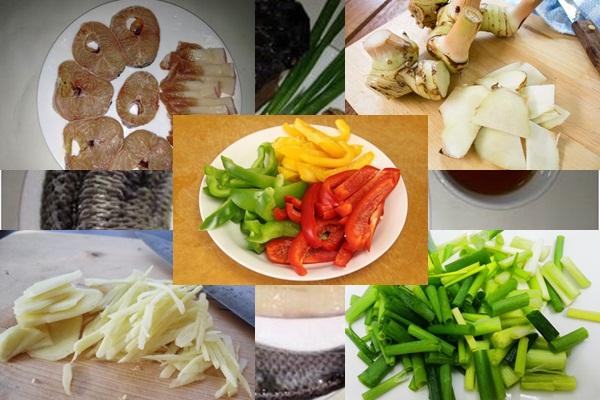 Nguyên liệu cần chuẩn bị để làm món cá lóc kho tộ hình 2
