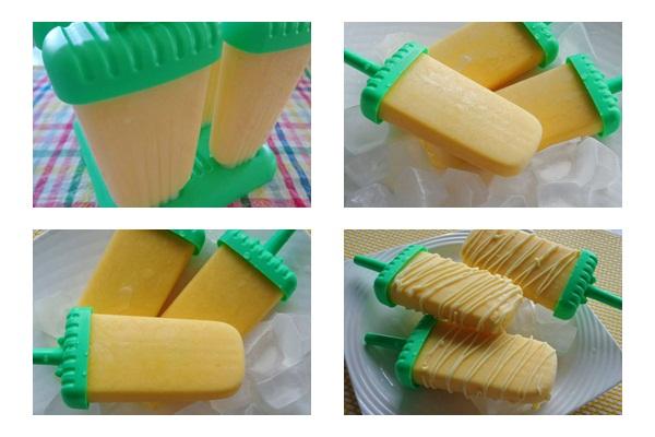 Cách làm kem xoài hình 4