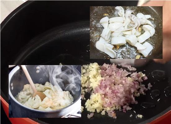Cách làm mực xào súp lơ hình 3
