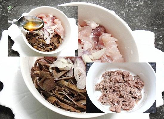 Cách nấu canh bí đao dồn thịt hình 3