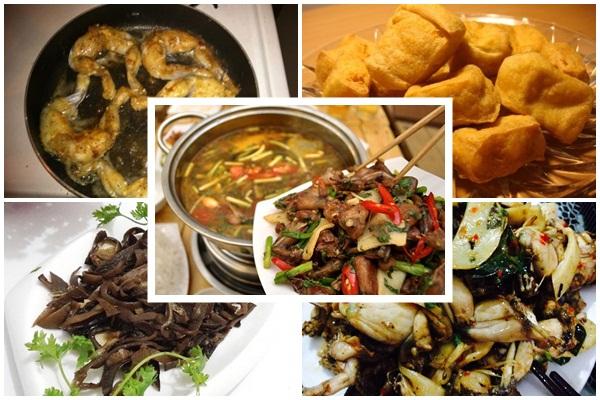 Cách nấu lẩu ếch hình 5
