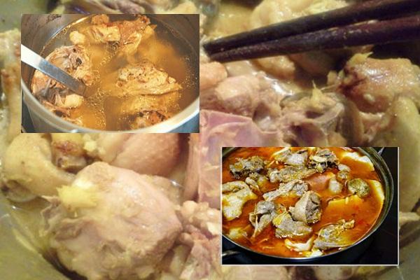 Cách nấu lẩu vịt hình 4