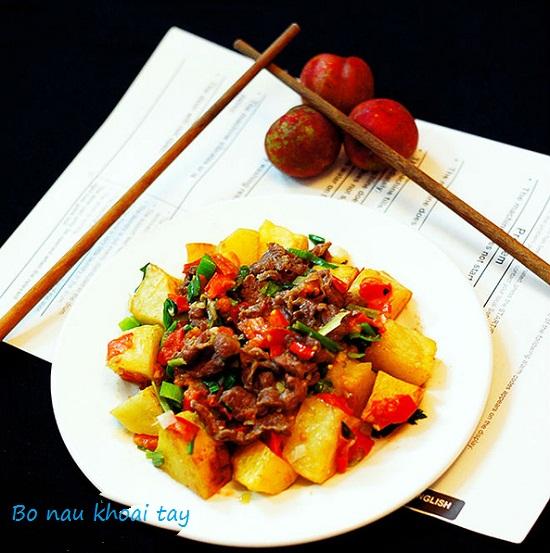 Cách nấu món thịt bò kho khoai tây cà chua cà rốt chuẩn kiểu Pháp hình 1