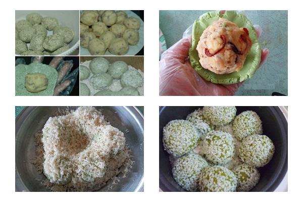 Cách nấu xôi cúc hình 4