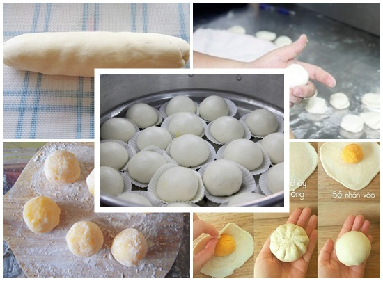 Cách làm bánh bao sữa trứng cực kỳ hấp dẫn và thơm ngon mới lạ hình 4