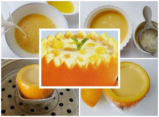 Cách làm bánh flan cam tuyệt đẹp cực ngon và thơm nức mũi hình 3