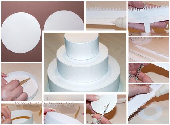 Cách làm bánh kem bằng giấy đơn giản xinh xắn cho sinh nhật hình 3