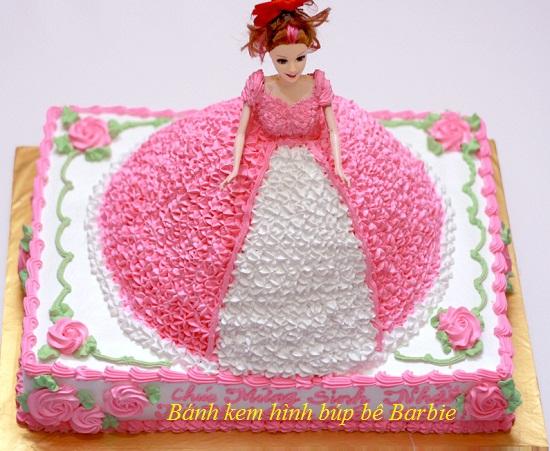 Cách làm bánh kem bánh kem barbie cho bé yêu làm quà sinh nhật hình 1
