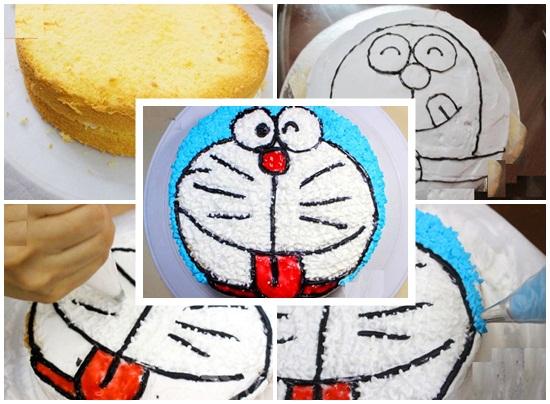 Cách làm bánh kem doremon vừa ngon vừa đơn giản và dễ làm hình 3