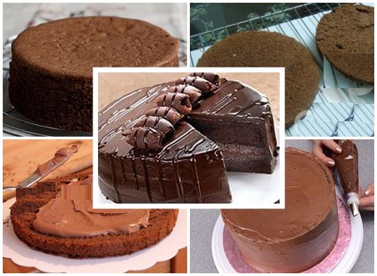 Cách làm bánh kem socola sinh nhật tại nhà cực ngon mà đơn giản hình 4