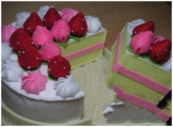 Cách làm bánh sinh nhật handmade bằng vải nỉ đẹp nhất xinh nhất hình 1