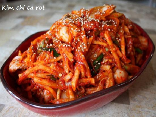 Cách làm kim chi cà rốt với củ cải Hàn Quốc ngay tại nhà hình 1