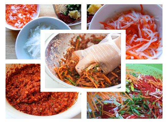 Cách làm kim chi cà rốt với củ cải Hàn Quốc ngay tại nhà hình 3