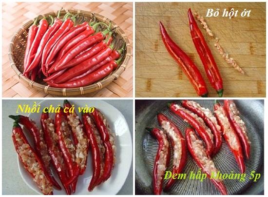Cách làm món chả cá nhồi ớt thơm ngon nhất lạ vị nhất tại nhà hình 3