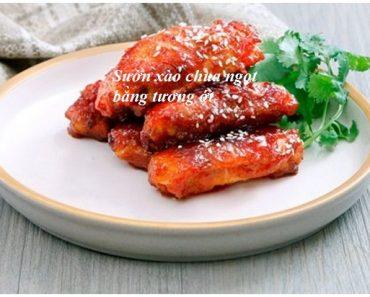 Cách làm sườn xào chua ngọt bằng tương ớt thơm ngon nức tiếng hình 1