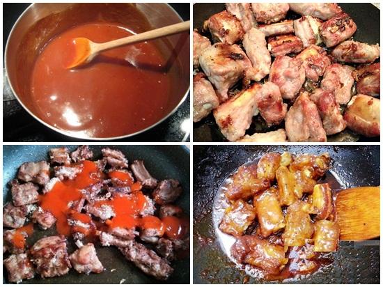 Cách làm sườn xào chua ngọt bằng tương ớt thơm ngon nức tiếng hình 3