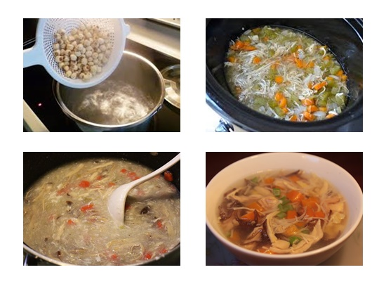 Cách nấu súp gà hạt sen cho bé ngon và bổ nhất ngay tại nhà hình 4
