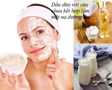 Dầu dừa và sữa chua kết hợp làm mặt nạ dưỡng da cực hiệu quả hình 1