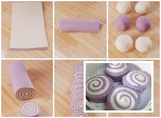 Hướng dẫn cách làm bánh bao 2 màu ngon đẹp cho bữa sáng hình 5