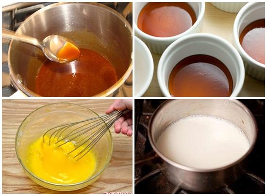 Hướng dẫn cách làm bánh flan bằng sữa tươi không đường siêu dễ hình 2