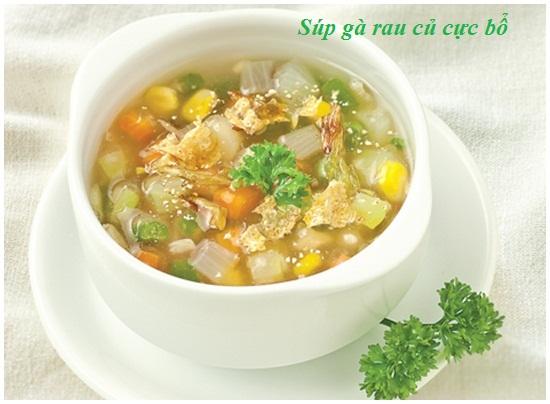 Hướng dẫn cách nấu súp gà rau củ ngon nhất chuẩn vị nhất hình 1