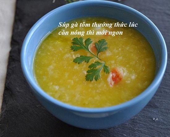 Hướng dẫn cách nấu súp gà tôm ngon nhất đơn giản nhất tại nhà hình 4