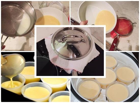 Hướng dẫn công thức làm bánh flan bằng sữa mẹ cho bé ăn dặm hình 3