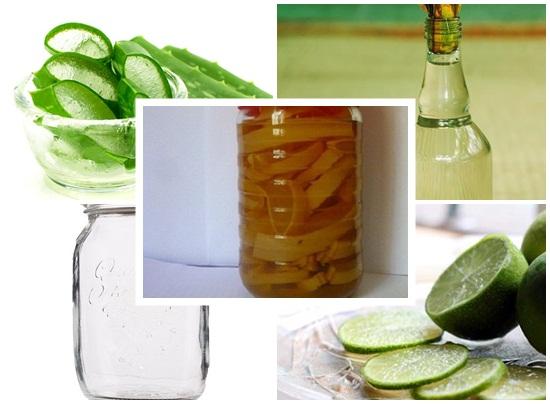 Cách làm nha đam ngâm rượu - dưỡng da trắng sáng và trị mụn hình 3