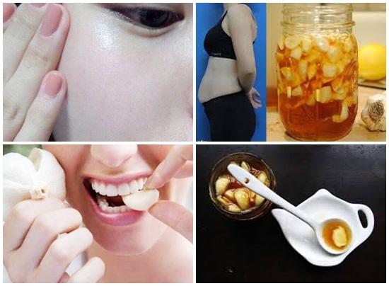 Cách làm tỏi ngâm mật ong bôi lên mặt đắp mặt để dưỡng da hình 4